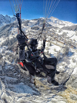 Paragliding in Mürren, Switzerland