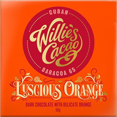 Willie's Cacao - Luscious Orange Cuban Baracoa 65 Dark Chocolate