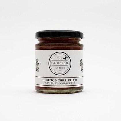 The Cornish Larder Tomato & Chilli Relish (with Dead Man's Fingers Rum)