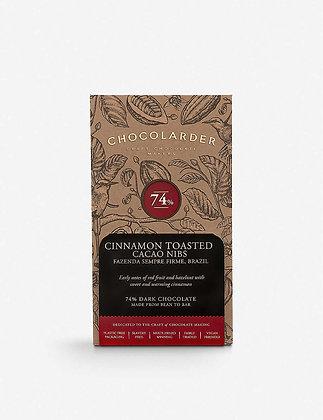 Chocolarder 74% Cinnamon Toasted Cacao Nibs Bar