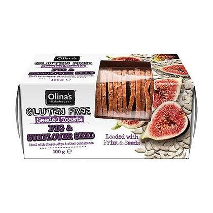 Olina's Bakehouse - Fig & Sunflower Seed Toasts