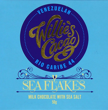 Willie's Cacao - Sea Flakes Rio Caribe 44 Milk Chocolate with Sea Salt