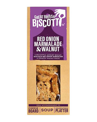 Great British Biscotti Red Onion Marmalade & Walnut
