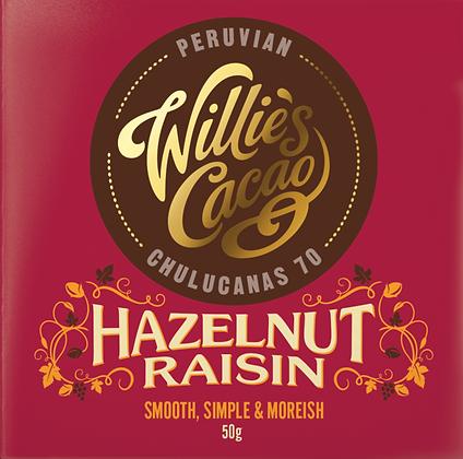 Willie's Cacao - Hazelnut Raisin Peruvian 70 Dark Chocolate