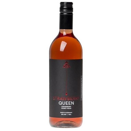 Strawberry Queen Honey Mead with Strawberry