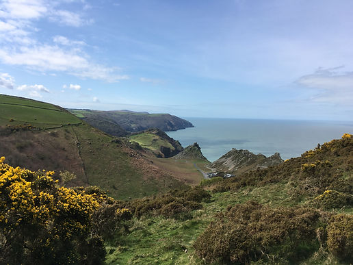 Looking down The Valley of Rocks, Lynton