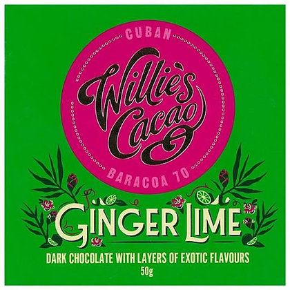 Willie's Cacao - Ginger Lime Cuban 70 Dark Chocolate