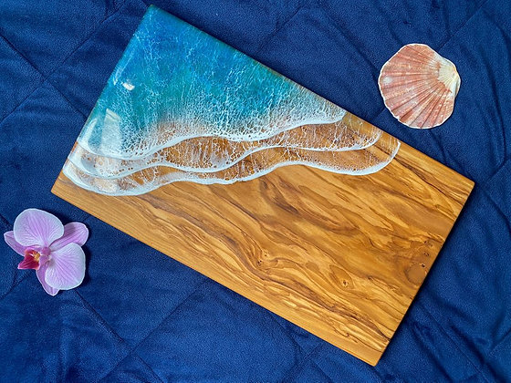 LightWater Studio Olive Wood & Resin Charcuterie Board - Rectangle