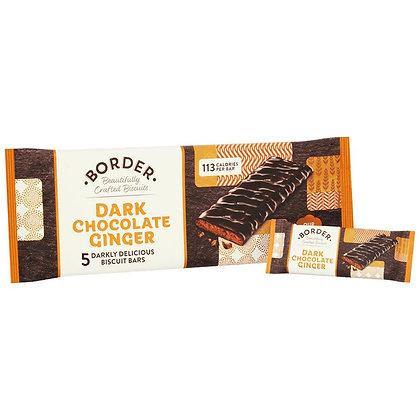 Border Dark Chocolate Ginger Biscuit Bars (5)