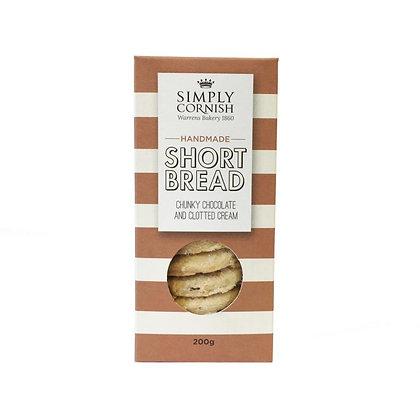 Simply Cornish Chunky Chocolate Clotted Cream Shortbread