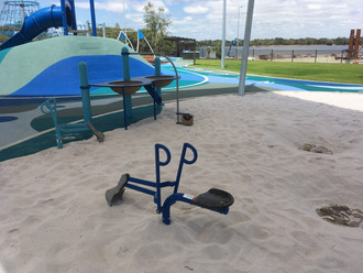 Super Scoop and Wheelchair accessible. Fossil digs. Perth playground supplier.