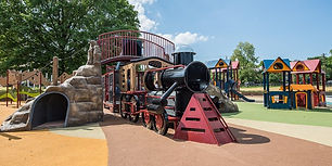 Custom Train playground with bridge from supplier.