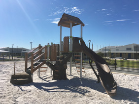 Perth School Treehouse. Nature Inspired playground with slide. Sandpit. Perth Supplier