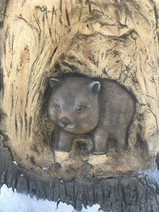 Nature Inspired Play Playgrounds Perth Western Ausralia Hand Carved Wombat