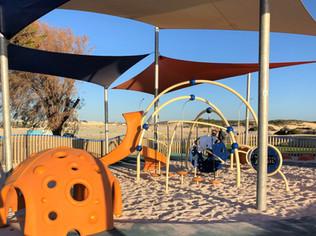Eglinton Playground. Amberton Beach. Evos with Slide. Cozy Dome. Perth Western Australia Playground Supplier.