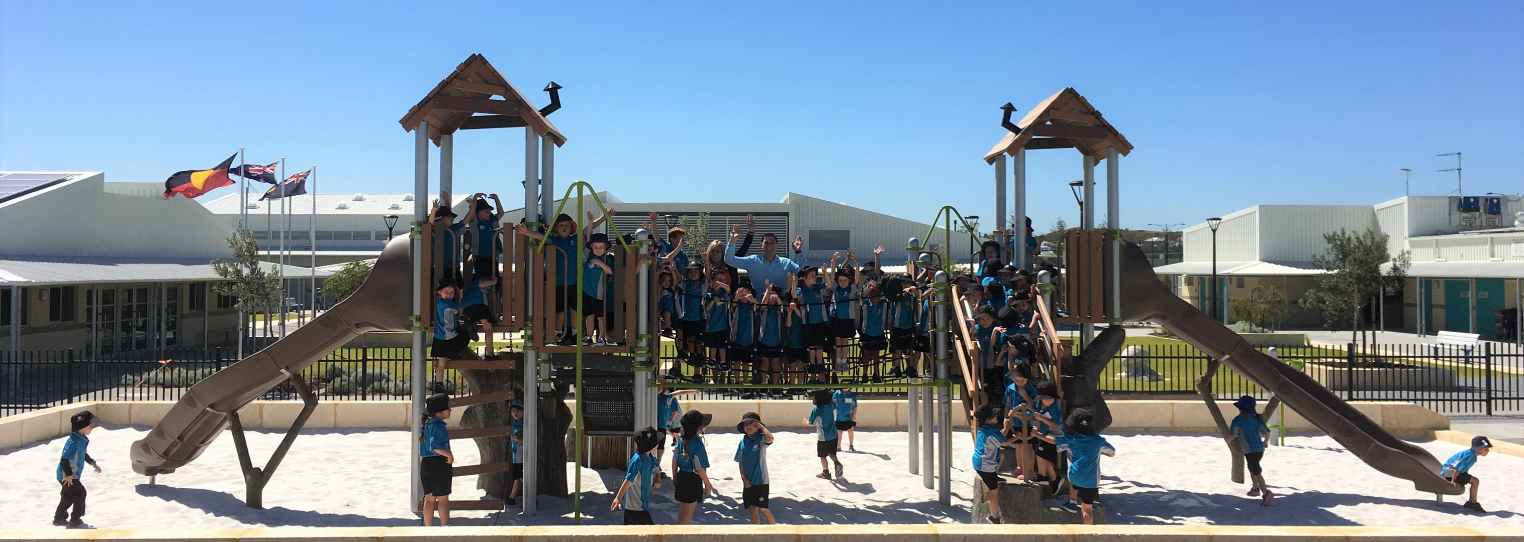 Nature Inspired Playgrounds. Treehouse. Western Australia Playground Supplier. Perth School