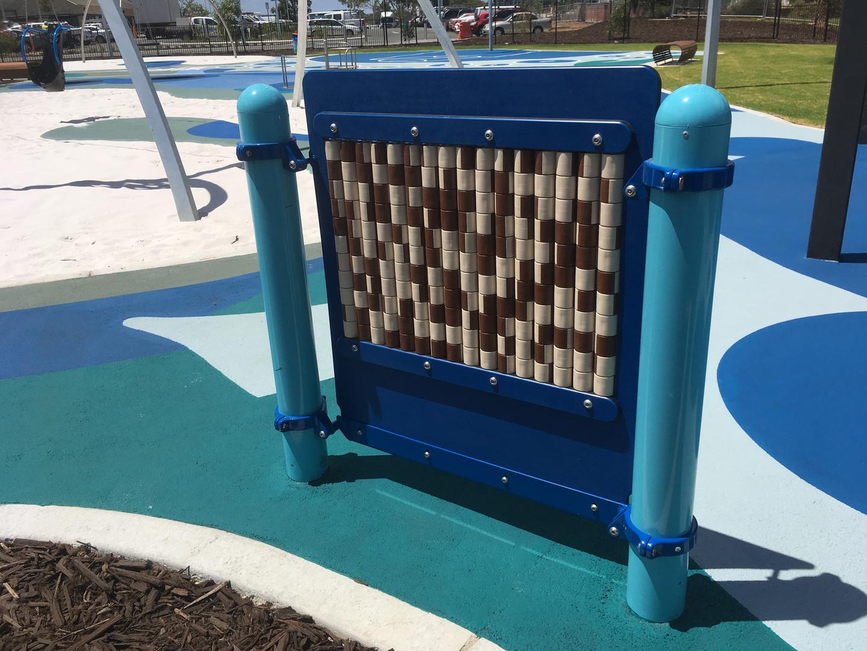 Freestanding Panel. Perth Optus Stadium Playground.