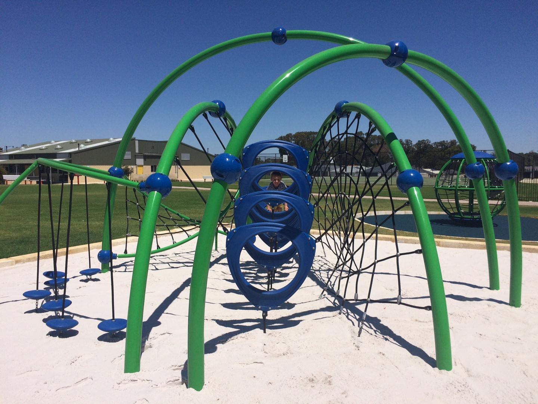 Evos with climber. Perth Playground Equipment.