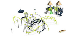 Perth playground design supplier. Evos Playground with spinners.