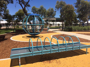 Roller Table and Global Motion. Inclusive and Accessible Play Equipment. Perth Western Australia.