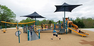 Inclusive Playground with Ramp and slide