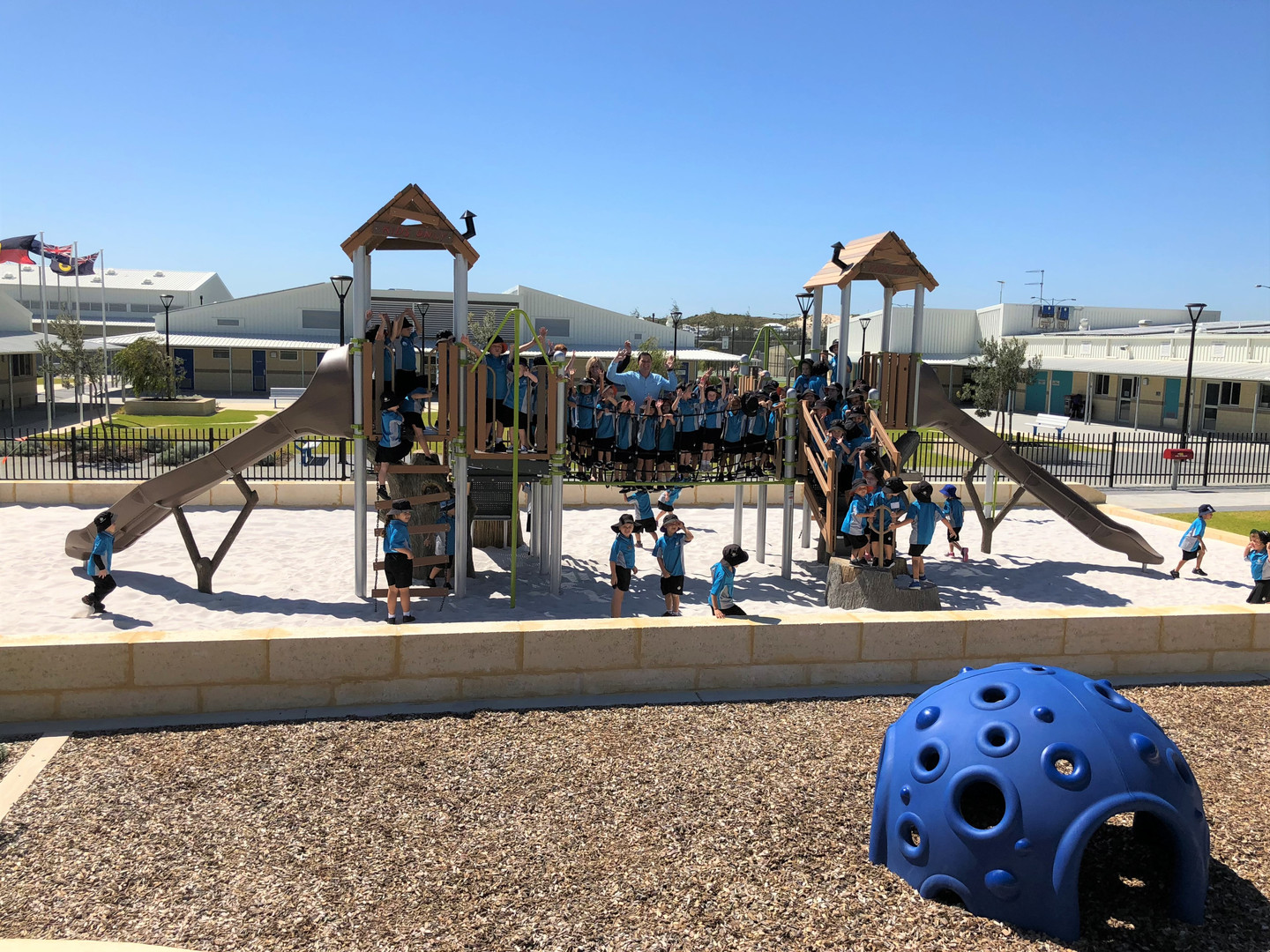 Cozy Dome and Treehouse Playground. School Play Supplier.