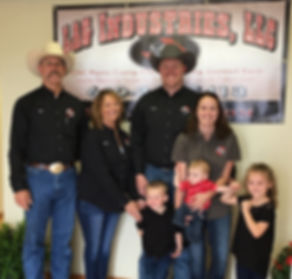 The Brackman Family photo at the grand opening of LAG Industries in La Monte Missouri