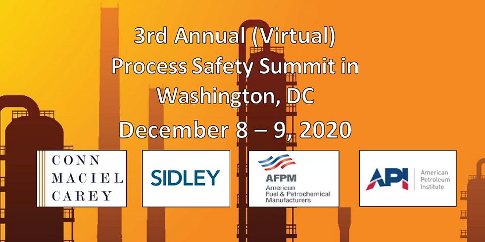 3rd Annual (Virtual) Process Safety Summit in Washington, DC