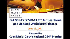 Fed OSHA's COVID-19 ETS for Healthcare and Updated Workplace Guidance