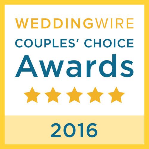 WeddingWire Couple's Choice 2016 Award