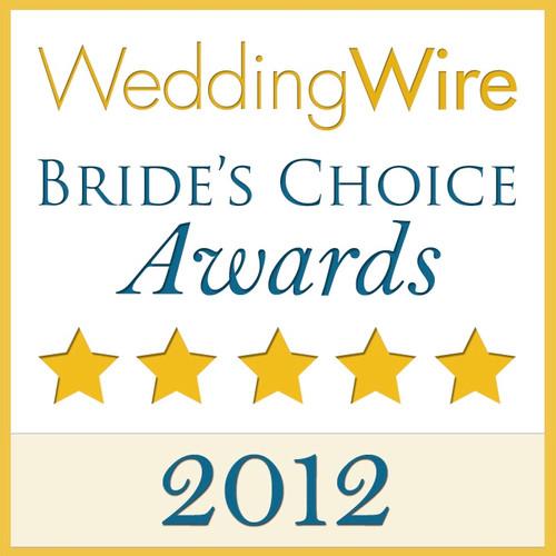 WeddingWire Couple's Choice 2012 Award