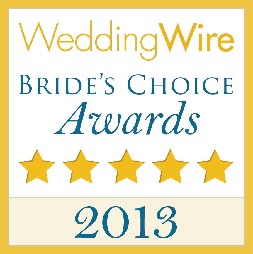 WeddingWire Couple's Choice 2013 Award