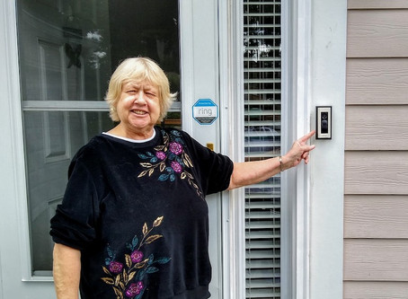 Independent retiree gains a new sense of security in her home