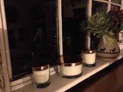 Elegant, copper lidded bowls