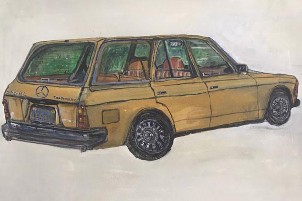 amr 1982 mercedes station wagon 12x18 20