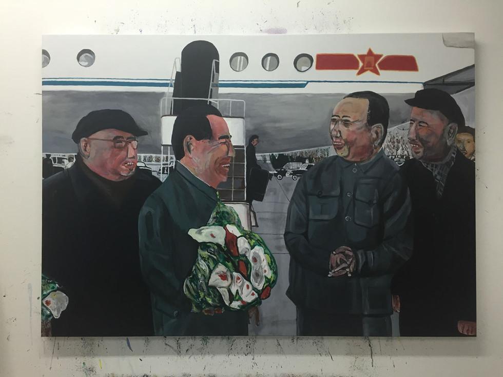 zhu de, zhou enlai, mao zedong, and liu