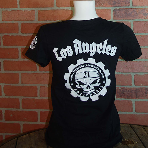 "T-Shirt ""Los Angeles"" Lady black edition"