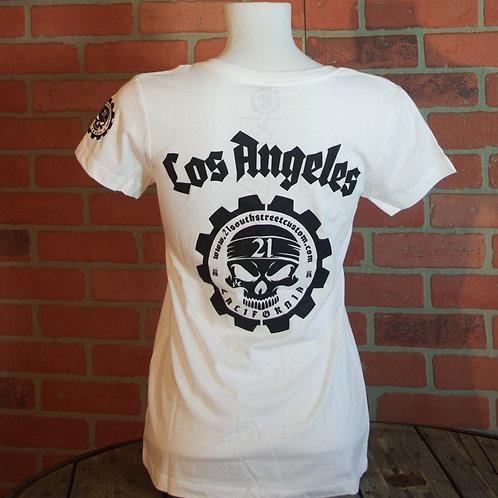 "T-Shirt ""Los Angeles"" Lady white edition"