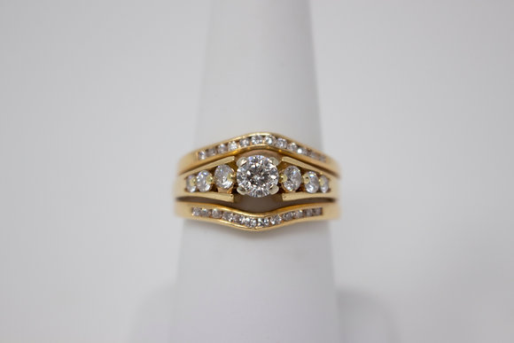 14k Gold Diamond Wedding Set