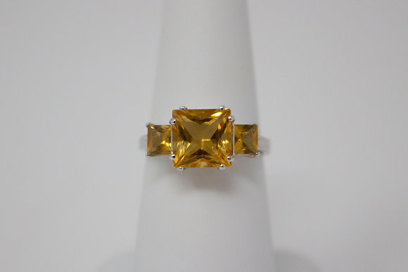 18k White Gold Natural Citrine Ring