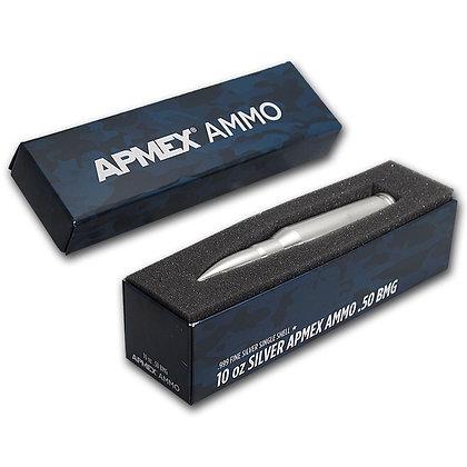 10 oz Silver Bullet - .50 Caliber BMG