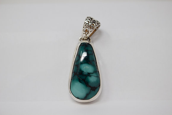 Sterling Silver Natural Turquoise Pendant