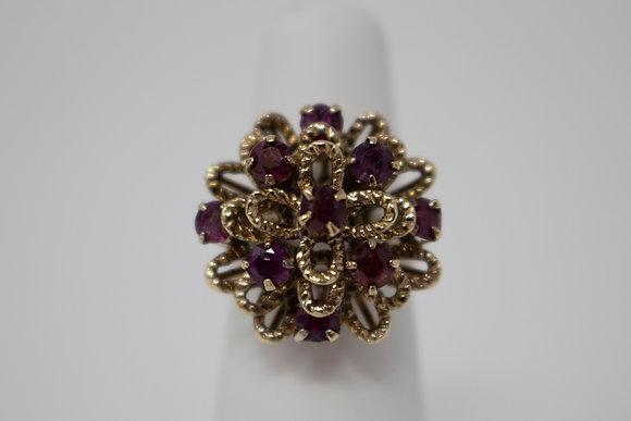 14k Gold Natural Ruby Ring