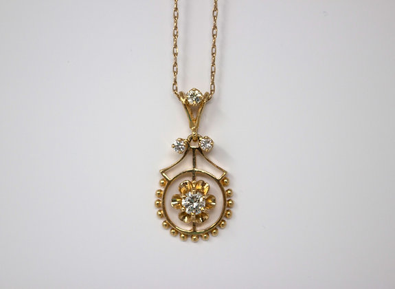18k Gold Diamond Pendant