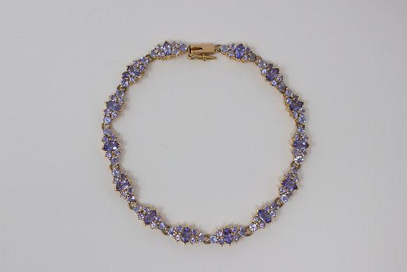 14k Gold Natural Tanzanite Bracelet