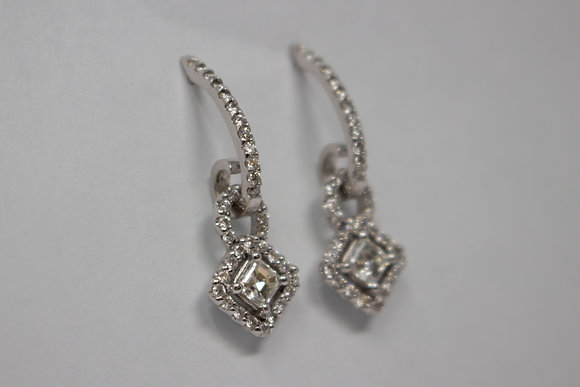18k White Gold Diamond Earrings