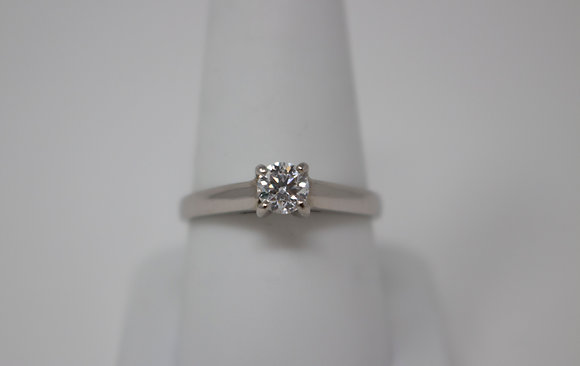 Palladium Solitaire Diamond Engagement Ring