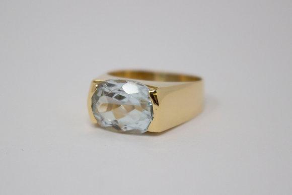 18k Gold Natural Topaz Ring
