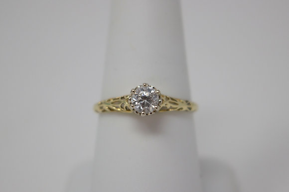 14k Gold Natural Zircon Ring