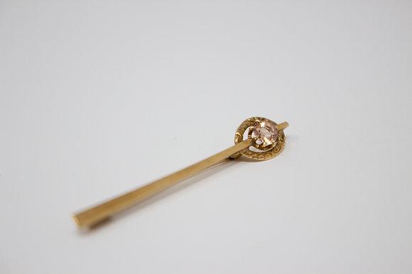 14k Gold Natural Imperial Topaz Stick Pin